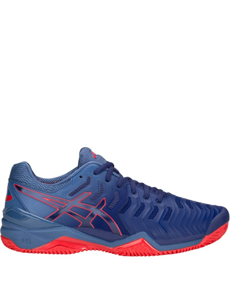 Asics Gel Resolution 7 Blue Red Clay 2018