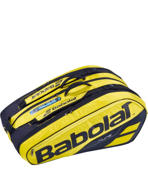 Babolat Racket Holder Pure Aero x12 Yellow Black